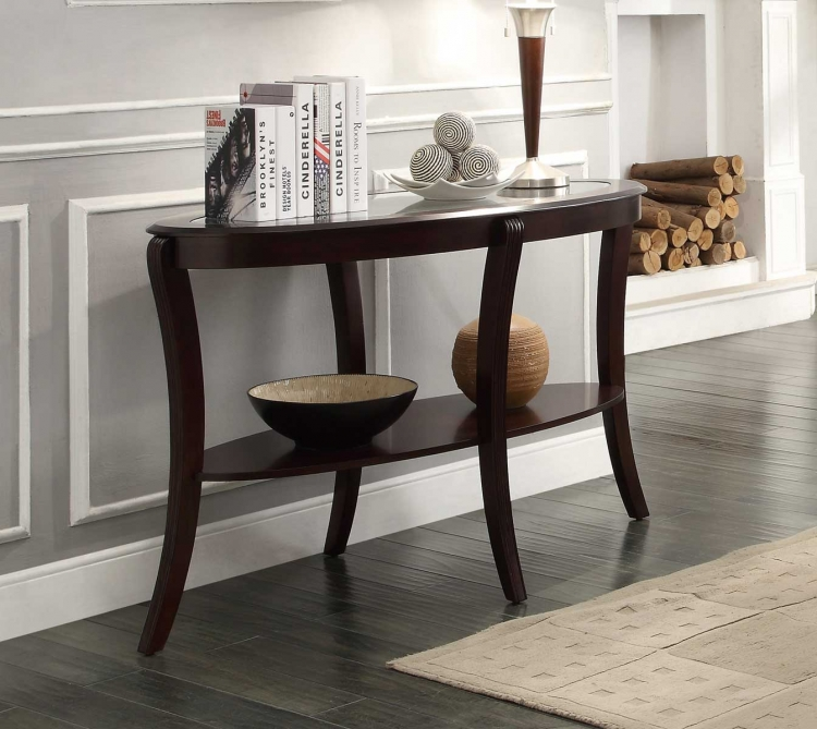 Pierre Sofa Table with Glass Insert
