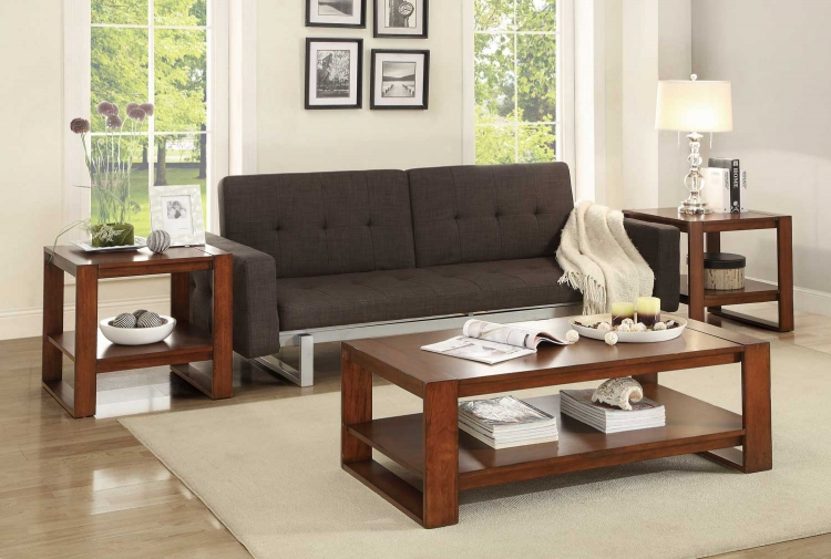 Pannell 3-Piece Occasional Tables - - Warm Cherry