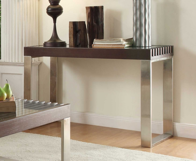 Raeburn Sofa Table with Glass Insert - Espresso