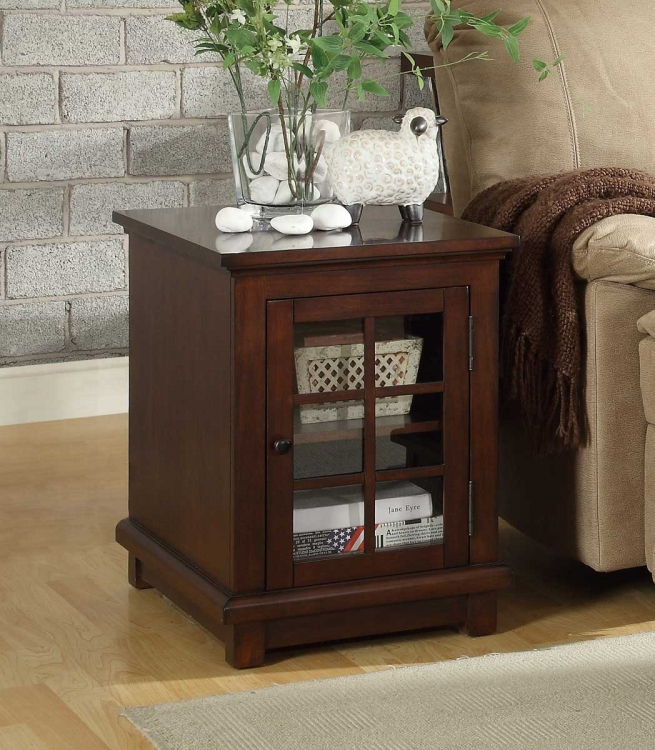 Bellamy End Table - Warm Cherry