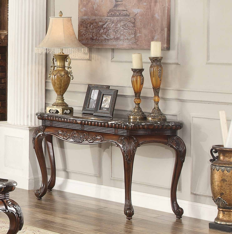 Mariacarla Sofa Table - Dark Cherry