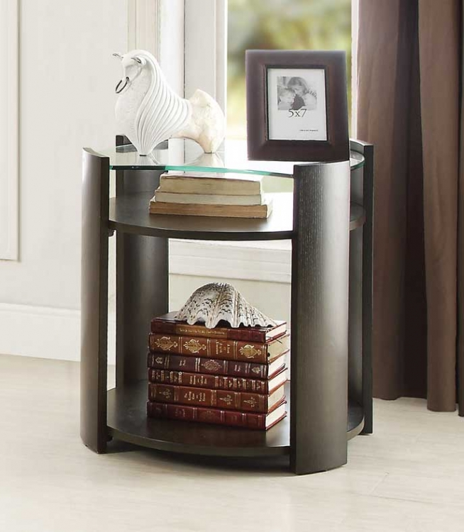 Sicily End Table with Glass Top