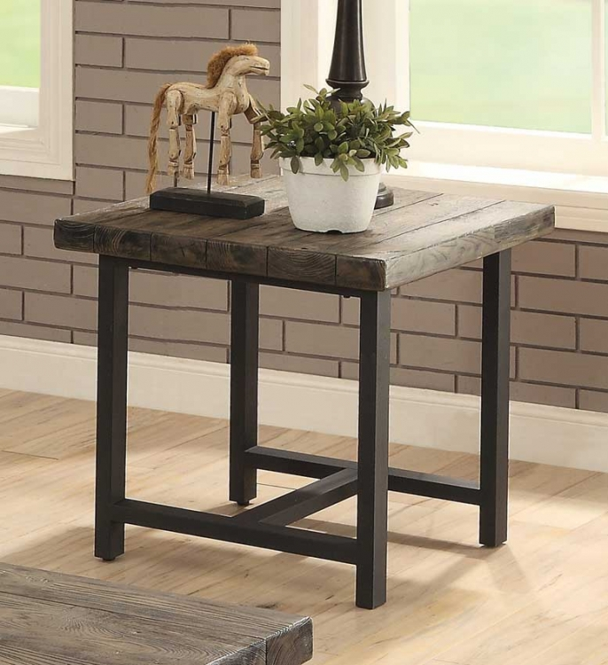 Anacortes End Table - Burnished Natural-Finish