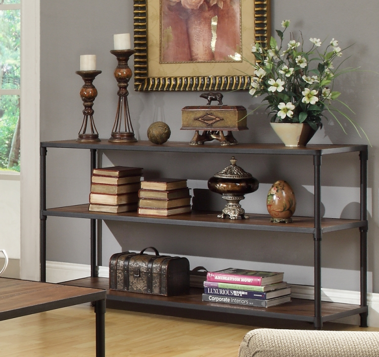 Mikah Sofa Table - Burnish Oak