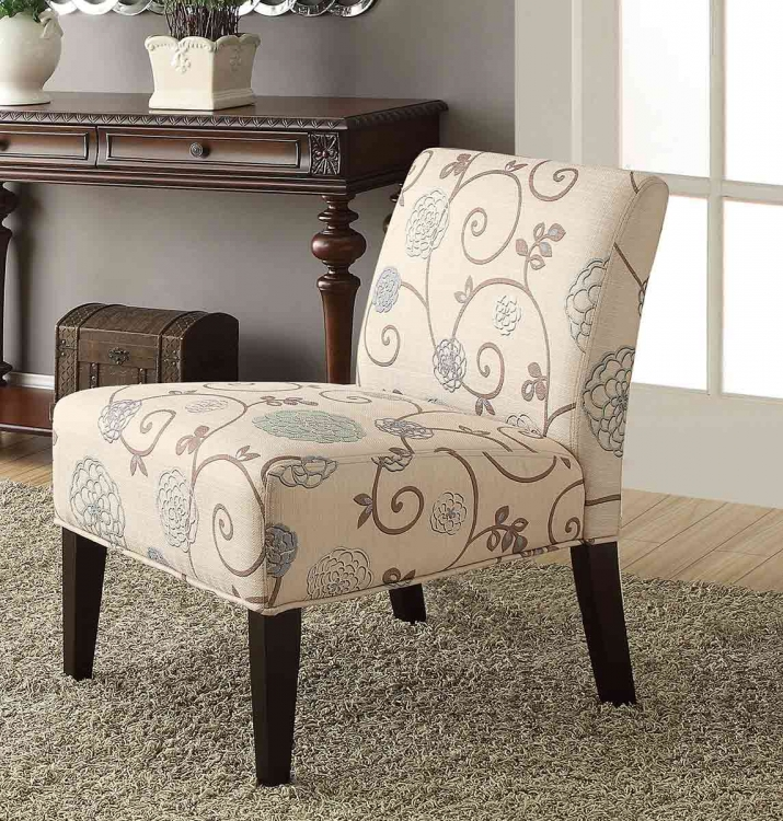 Lifestyle Armless Lounge Chair - Printed Fabric