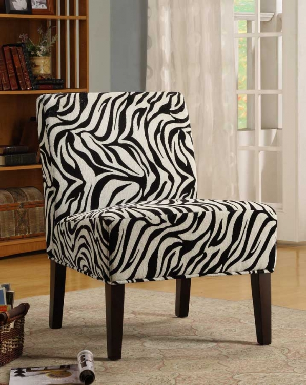 Lifestyle Armless Lounge Chair in Zebra