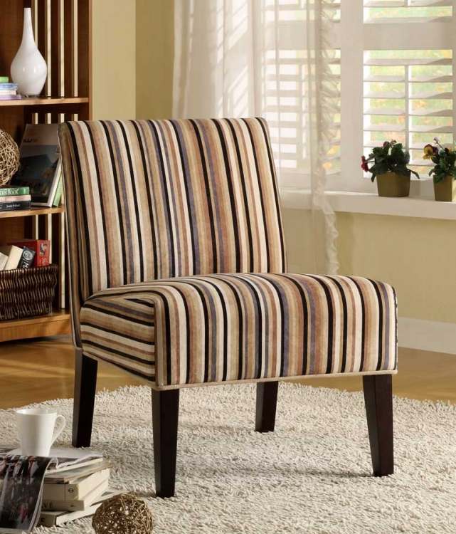 Lifestyle Armless Lounge Chair in Stripe