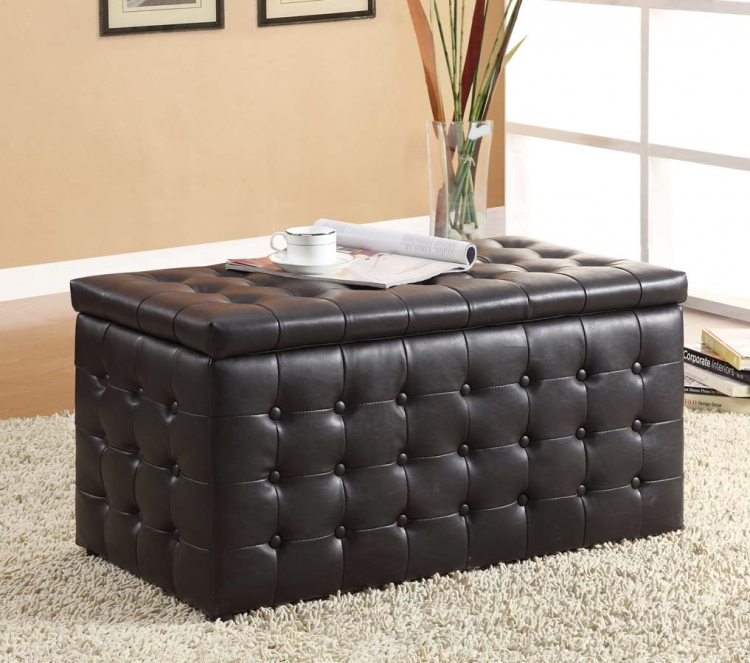 Reynolds Storage Bench with 2 Ottomans� - Homelegance