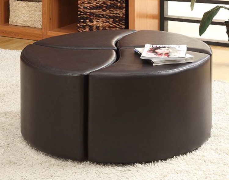 Strand 4-Piece Cocktail Ottoman with Casters� - Homelegance
