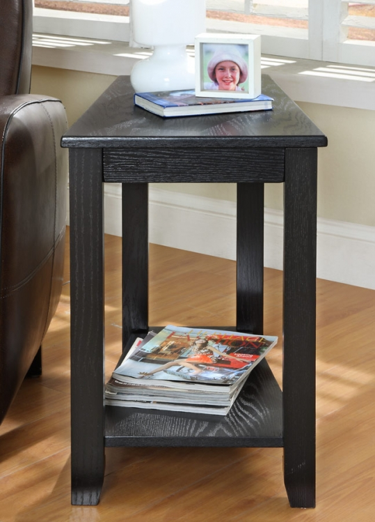 Elwell Chairside Table - Wedge - Black