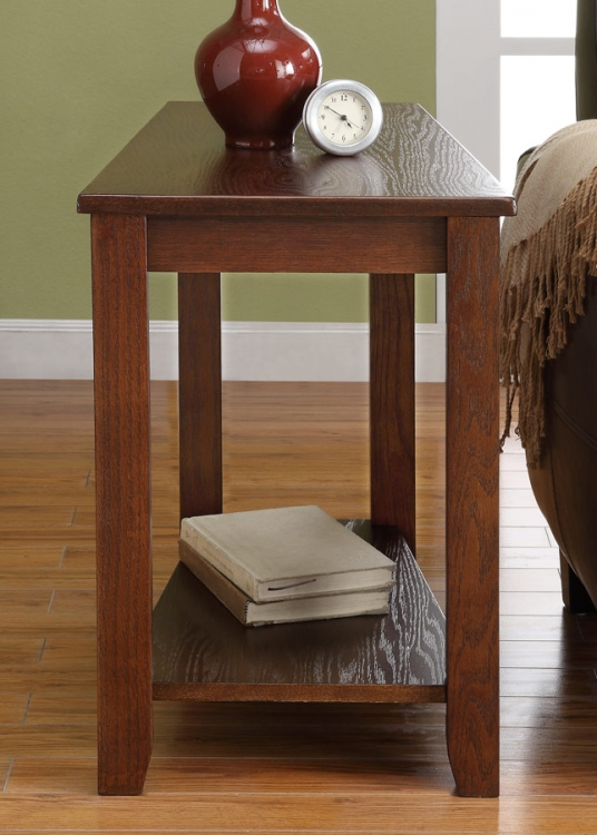 Elwell Chairside Table - Wedge - Espresso