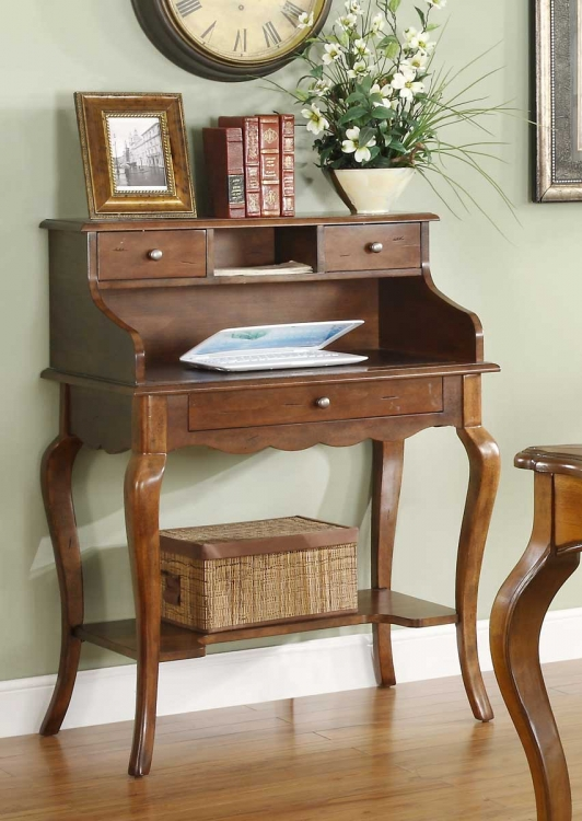 Ainsley� Secretary Desk - Brown Cherry� - Homelegance
