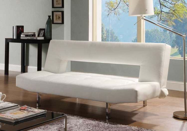 Drake Elegant Lounger Sofa Bed - White Bi-Cast - Homelegance