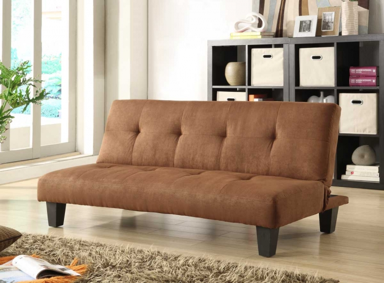 Albert Elegant Lounger Sofa Bed - Brown Microfiber - Homelegance