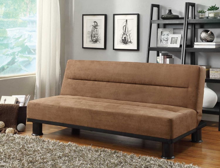 Callie Click-Clack Sofa Bed - Brown - Microfiber - Homelegance