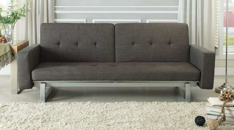 Crispin Elegant Lounger Sofa Bed - Grey