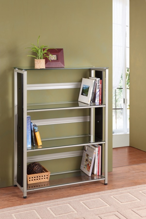 Network Bookcase in Champagne Finish - Homelegance