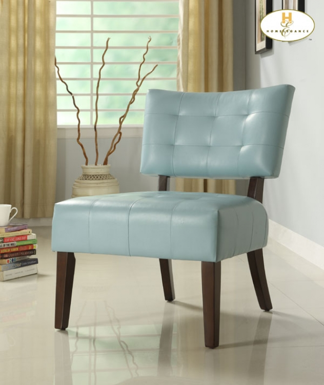Warner Accent Chair - Sky Blue - Homelegance