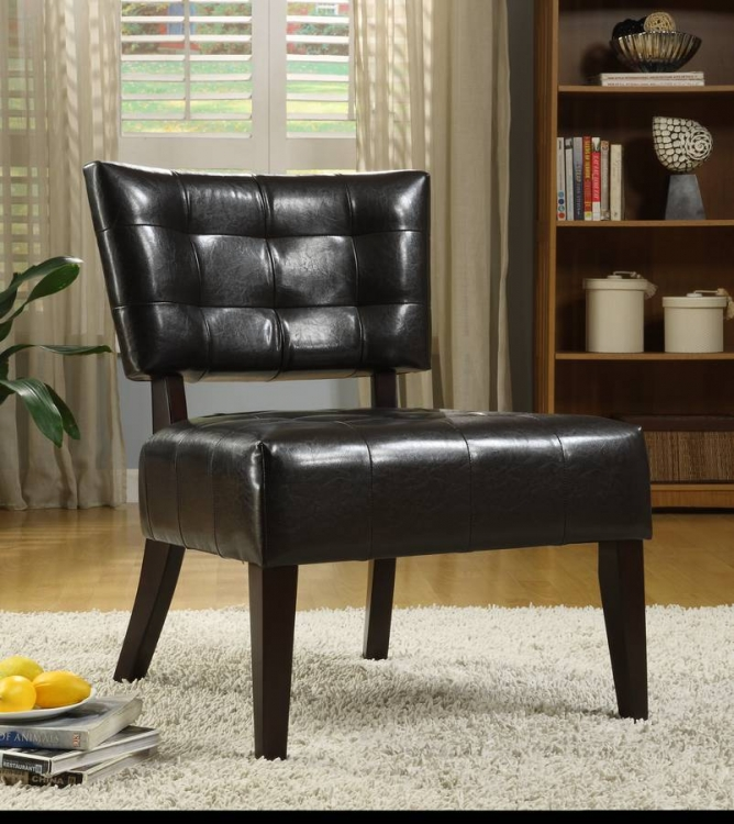 Warner Accent Chair - Dark Brown - Homelegance