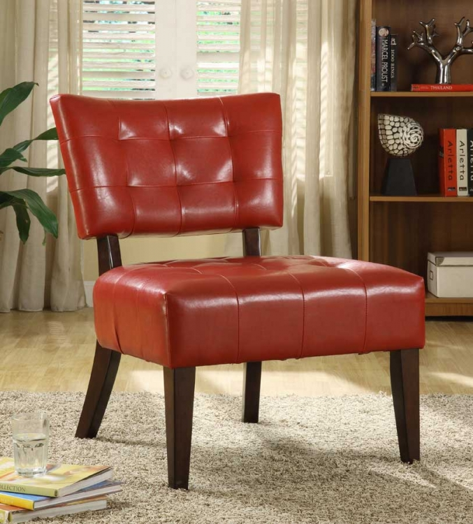Warner Accent Chair - Lava Red - Homelegance