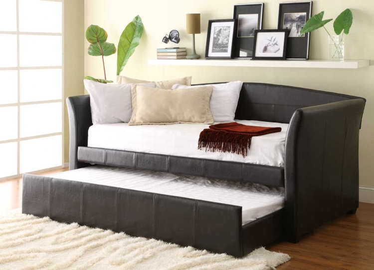 Meyer Daybed with Trundle - Dark Brown Bi-Cast