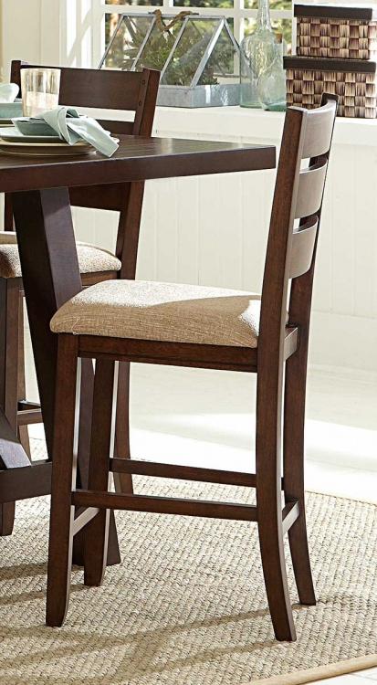 Denton Mills Counter Height Chair - Beige Fabric