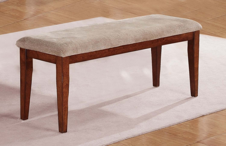 Oldsmar 48in Bench - Neutral Toned Brown Fabric