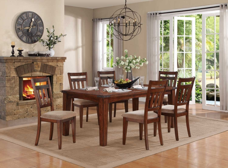 Oldsmar Dining Set - Dark Oak
