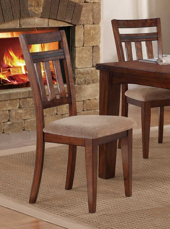 Oldsmar Side Chair - Neutral Toned Brown Fabric