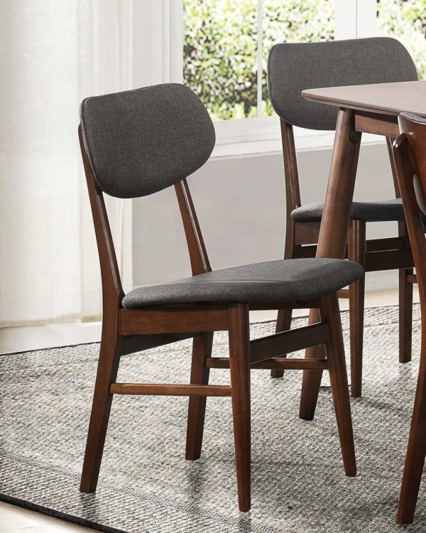 Lev Side Chair - Gray Fabric