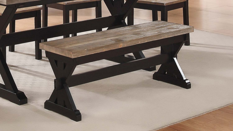 North Port Bench - Two Tone Black/Brown