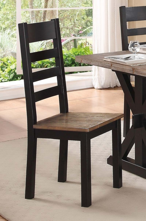 North Port Side Chair - Two Tone Black/Brown