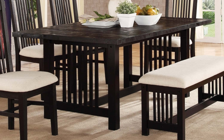 Irrington Trestle Dining Table - Black Driftwood
