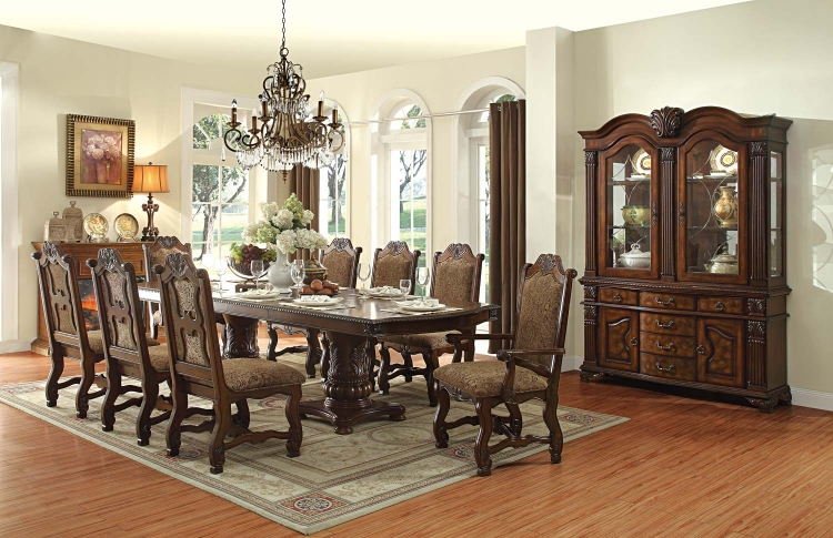 Thurmont Double Pedestal Dining Set - Cherry