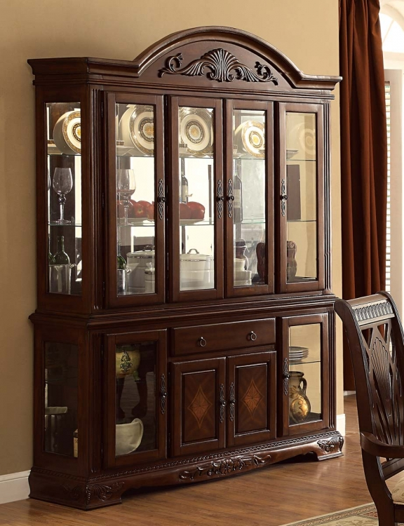 Norwich China Cabinet - Warm Cherry