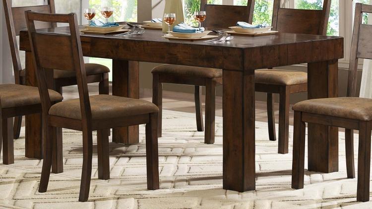 Eagle Ridge Leg Dining Table - Wood Planking