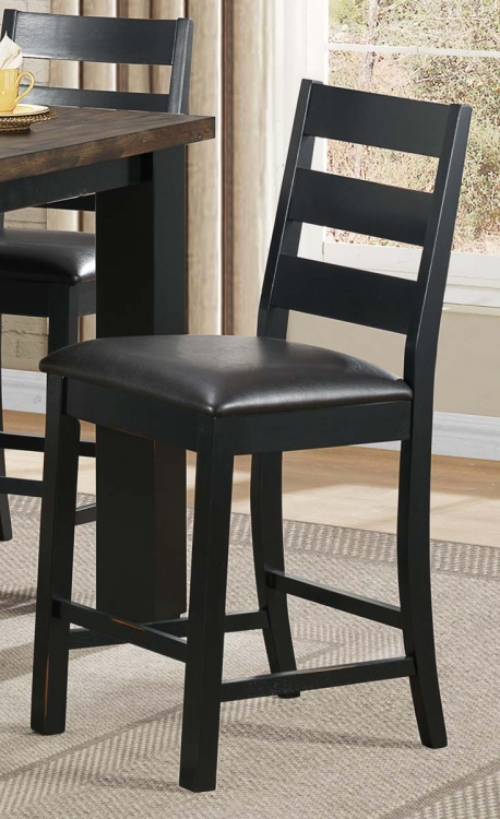 Hyattsville Counter Height Chair - Black Bi-cast Vinyl