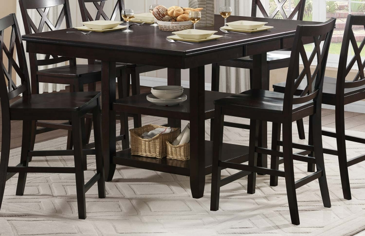 Philipsburg Counter Height Table - Deep Cherry