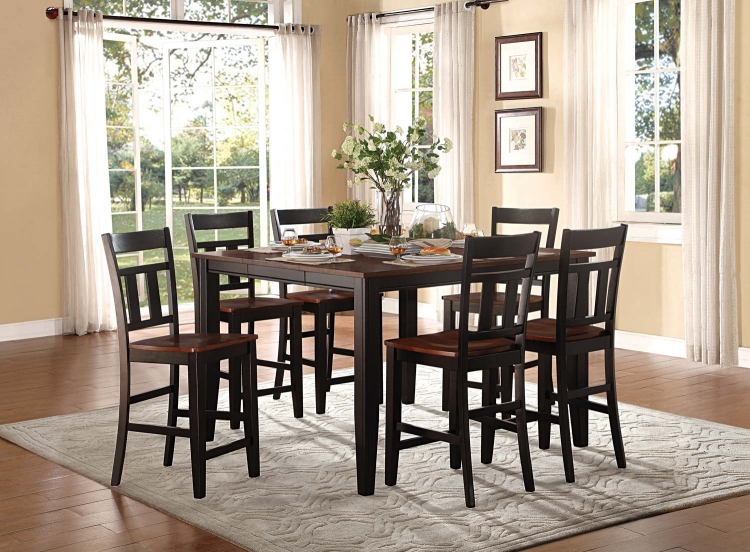 Westport Counter Height Dining Set - Two tone black/cherry
