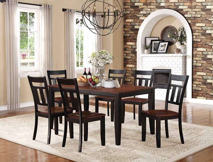 Westport Dining Set - Two tone black/cherry