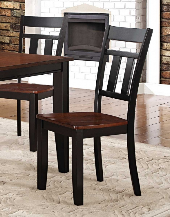 Westport Side Chair - Two tone black/cherry