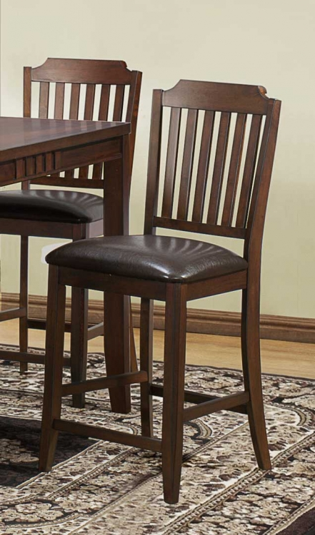 Dickens Counter Height Chair - Rich Brown