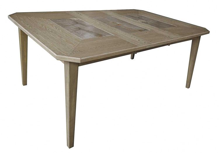 Geranium Leg Dining Table With Leaf - Driftwood