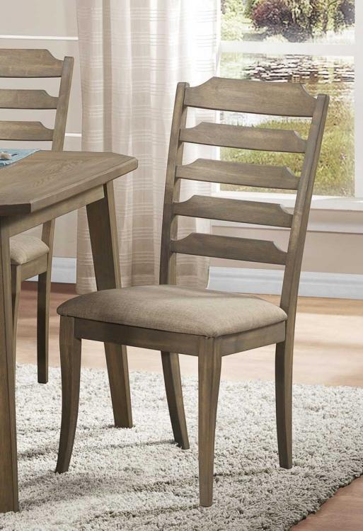 Geranium Side Chair - Neutral Tone Fabric