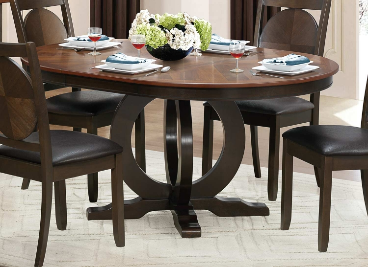 Turing Dining Table - Dark Brown