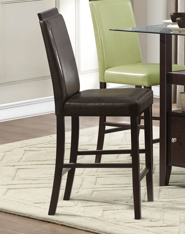 Bari Counter Height Chair - Dark Brown