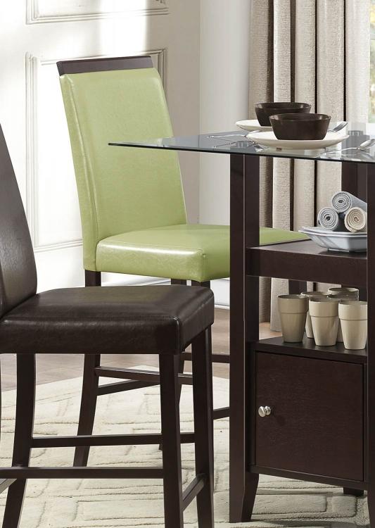 Bari Counter Height Chair - Lime Green