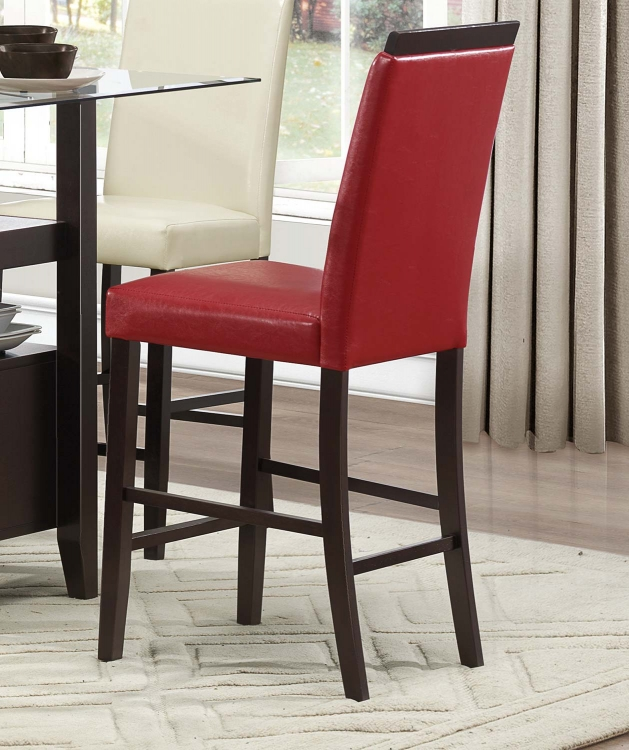 Bari Counter Height Chair - Red