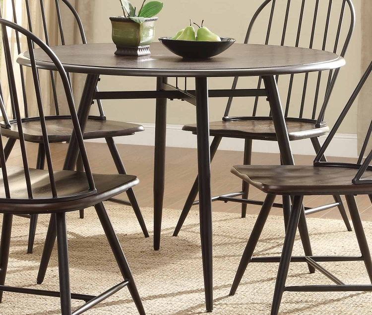 Hesperia Colletion Dining Table - Dark Brown Oak/Metal