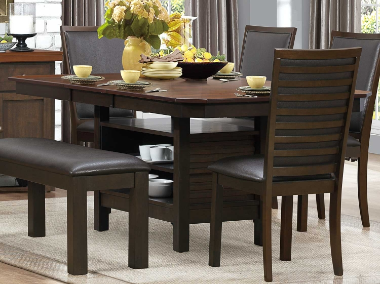 Corliss Dining Table - Dark Brown